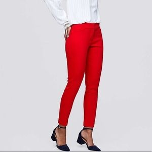 LOFT Julie cuffed skinny pant in red - NWT